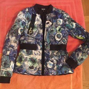 Just Cavalili Printed quilted jacket
